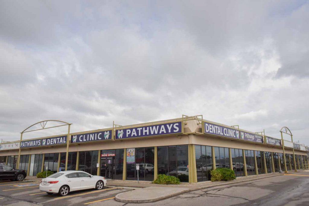 Exterior Entrance Pathways Dental | NE Calgary Dentists | Pathways Dental Clinic