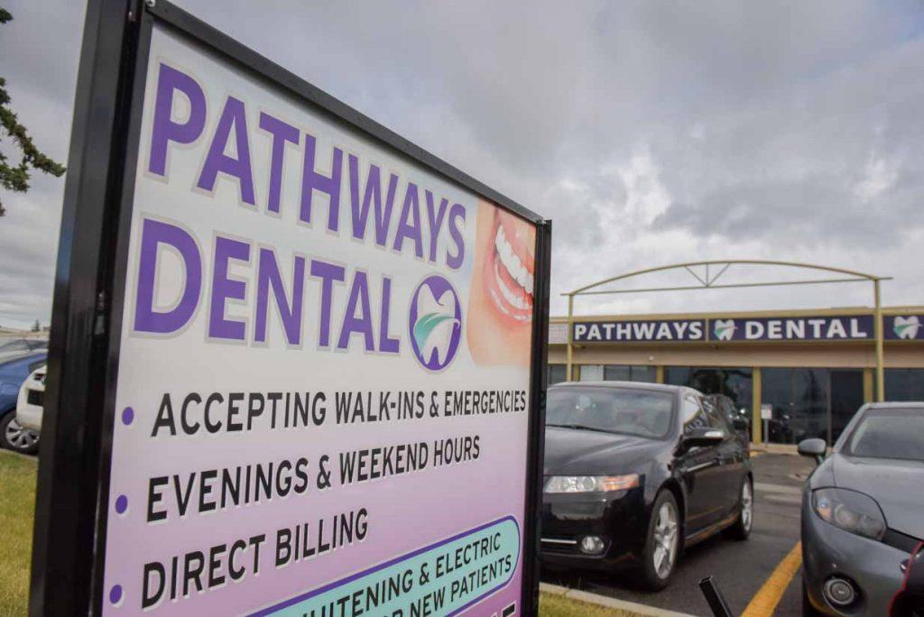 Parking Lot Sign | NE Calgary Dentists | Pathways Dental Clinic