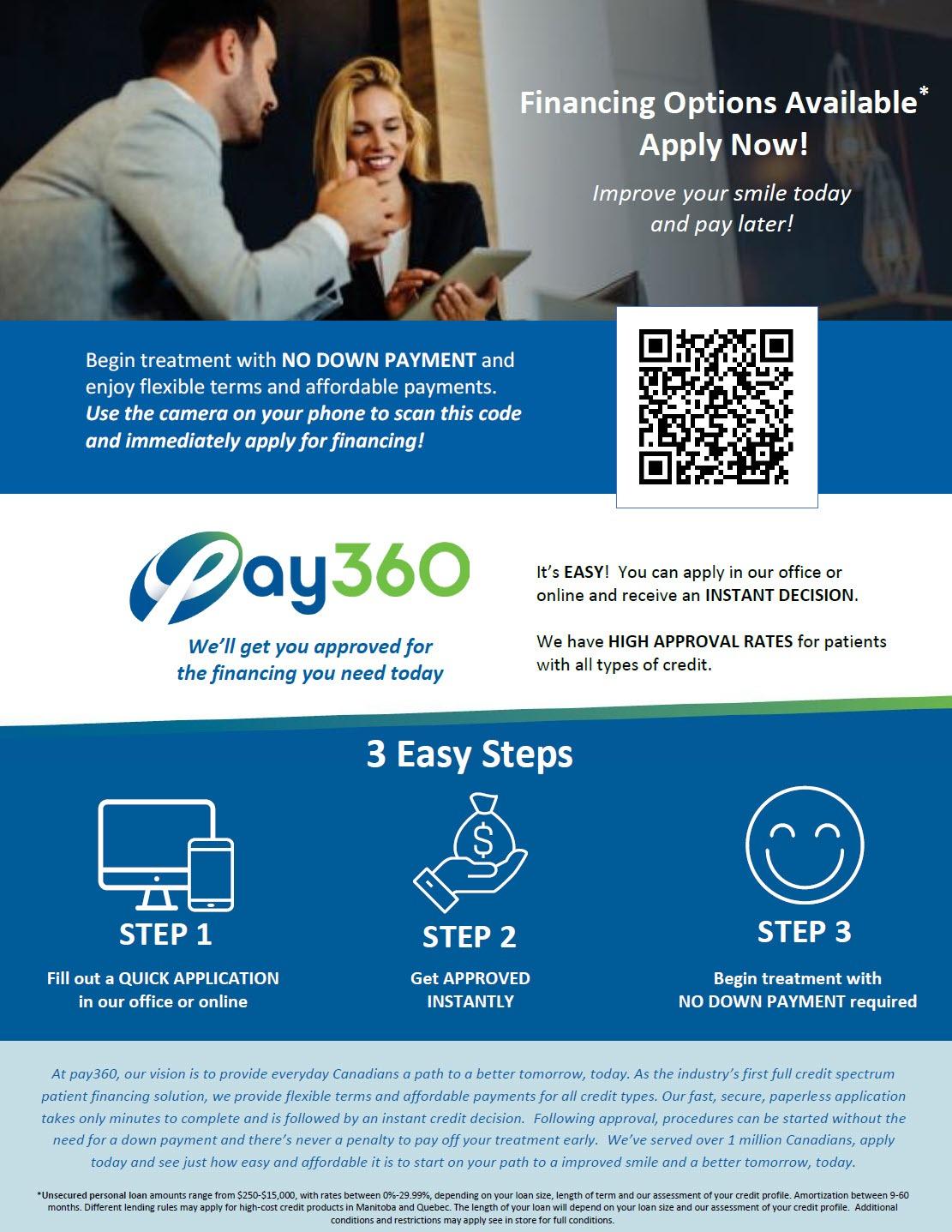 Pay360 Financing for Dental Procedures | Calgary Dentist
